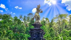 An Indonesian garden in Bali stock images
