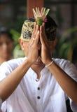 Indonesian groom prays Stock Images