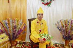 Indonesian groom Royalty Free Stock Photos