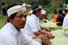 Indonesian Hindus Melasti ritual Royalty Free Stock Photos