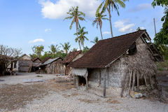 Indonesian house - shack on beach Royalty Free Stock Photography