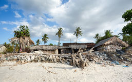 Indonesian house - shack on beach Stock Photography