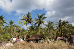 Indonesian house - shack on beach Stock Photo