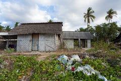 Indonesian house - shack on beach Stock Image