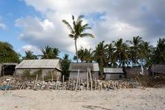 Indonesian house - shack on beach Stock Photography