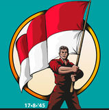 Indonesian independence day Stock Images