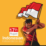 Indonesian independence day. Vector illustration, Indonesian independence day symbol Stock Photos
