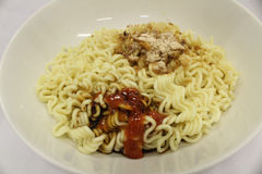 Indonesian instant noodle fast food asian cooking Royalty Free Stock Photography