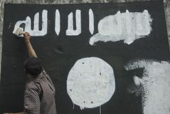 INDONESIAN INTELLIGENCE TO WATCH EXTREMIST GROUP ON ISLAMIC STATE ISSUES Royalty Free Stock Photography