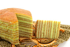 Indonesian layer cake Stock Photos