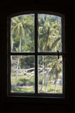 Indonesian lighthouse window view Royalty Free Stock Images