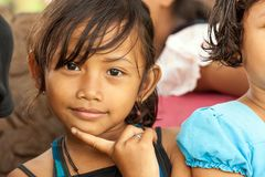 Indonesian little girl portrait Royalty Free Stock Image