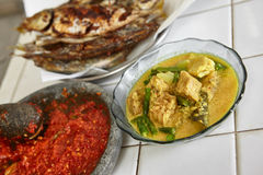 Indonesian local meal Royalty Free Stock Photos