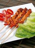 Indonesian or Malaysian satay sticks Stock Image