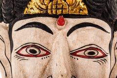 Indonesian mask closeup Stock Photo