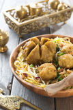 Indonesian meatball noodles Stock Images