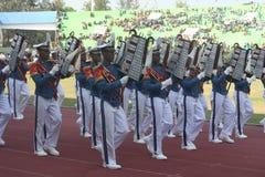 Indonesian military marchindband Stock Image