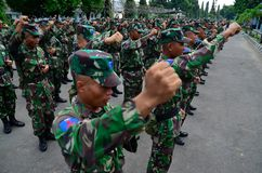 INDONESIAN MILITARY POWERS Stock Photography