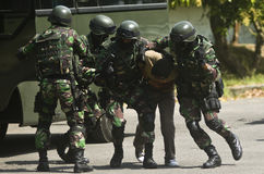 INDONESIAN MILITARY TO ADD NEW BORDER POSTS Stock Image