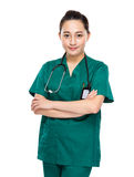 Indonesian mixed race female doctor Royalty Free Stock Photos