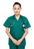 Indonesian mixed race medical doctor Royalty Free Stock Photography