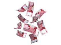 Indonesian Money 100.000 Rupiah Falling Stock Photo