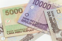 Indonesian money / rupiah. View of the Indonesian money / rupiah Royalty Free Stock Photography