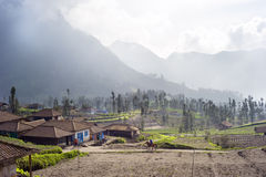 Indonesian mountain village Royalty Free Stock Photography