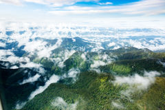 Indonesian Mountains Stock Photography