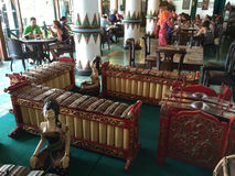 Indonesian Musical Percussion Marimba like Instruments Stock Photos