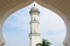 Indonesian muslim architecture, Banda Aceh. Detail of the Masjid Raya Baiturrahman mosque in Banda Aceh city in Indonesia, Sumatra island stock photo