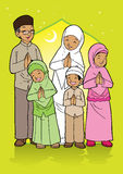 Indonesian muslim family royalty free illustration