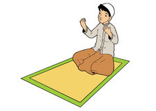 Indonesian muslim man praying Stock Images