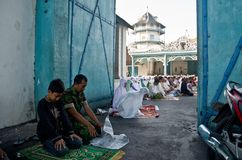 INDONESIAN MUSLIM MASS PRAYER Stock Images