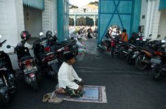 INDONESIAN MUSLIM MASS PRAYER Stock Photo