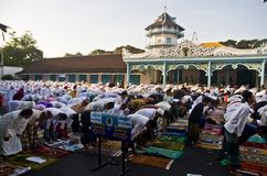INDONESIAN MUSLIM MASS PRAYER Stock Photography