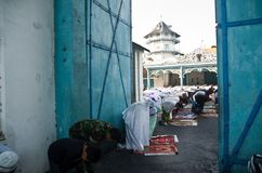 INDONESIAN MUSLIM MASS PRAYER Royalty Free Stock Photography