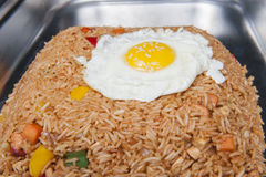 Indonesian Nasi Goreng meal at a chinese restaurant Royalty Free Stock Images