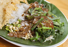 Indonesian Nasi Pecel Stock Photo