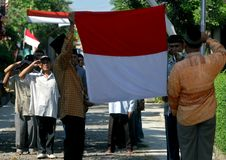 INDONESIAN NATIONAL FLAG Stock Images