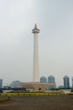 Indonesian National Monument. stock images
