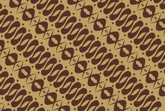 Indonesian native - batik pattern Stock Image