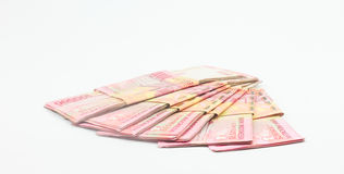 Indonesian notes on white background Stock Photography