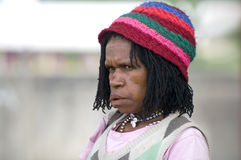 Indonesian papua woman Stock Images