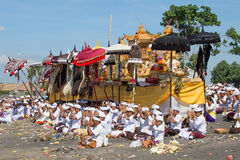 Indonesian people celebrate Balinese New Year and the arrival of spring Royalty Free Stock Photos