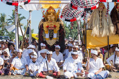 Indonesian people celebrate Balinese New Year and the arrival of spring Royalty Free Stock Image