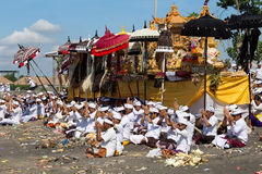 Indonesian people celebrate Balinese New Year and the arrival of spring Royalty Free Stock Images