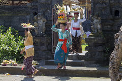 Indonesian people celebrate Balinese New Year and the arrival of spring. Stock Photography