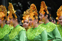 Indonesian Performers at Folkmoot USA Royalty Free Stock Photos