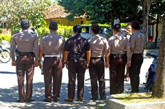 Indonesian police Royalty Free Stock Images